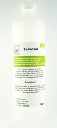 Teakosol - spezielle Pflege zur Teak-Holz Reinigung