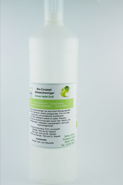 Allzweckreiniger Konzentrat 1 Liter mit Dosierkopf - Duftnoten zur Auswahl